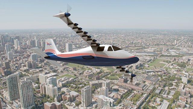 Полностью электрический самолет X-57 Maxwell