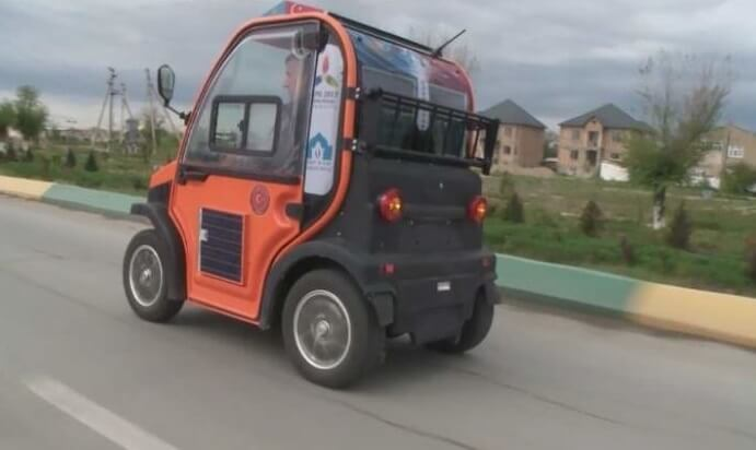 Автомобиль на солнечных батареях из Казахстана