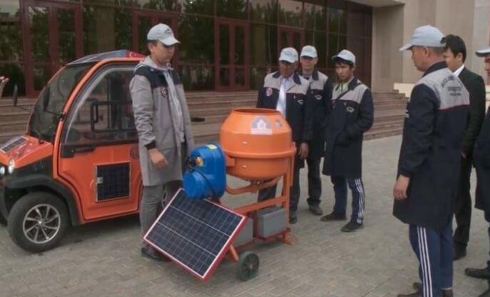 Бетономешалка на солнечных батареях