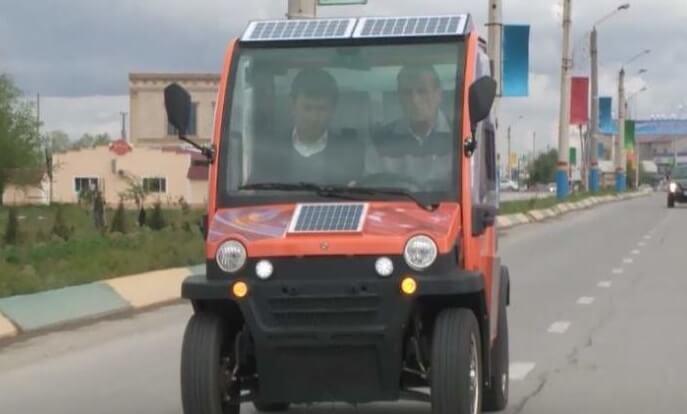 Солнечный автомобиль из Казахстана