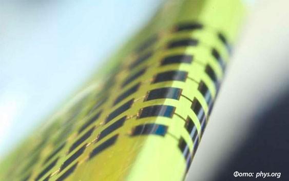 Солнечная панель толщиной 1мкм