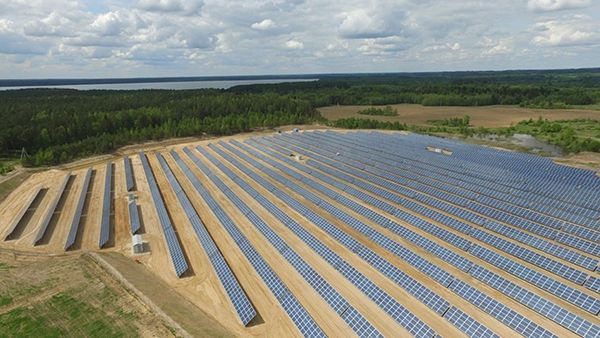 Крупнейшая солненчная электростанция Беларуси