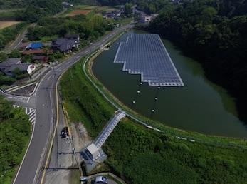 Плавучая солнечная электростанция в Японии
