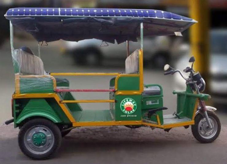 Рикша на солнечных батареях