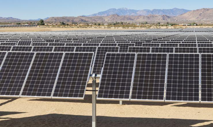 Солнечная электростанция в пустыне Мохаве