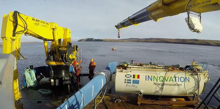 Первая приливная турбина в Шотландии
