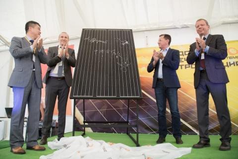 Строительство солнечной электростанции в Володарске