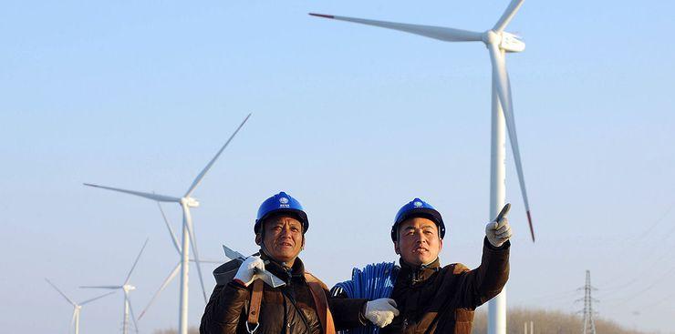 Китай развивает ветровую энергетику