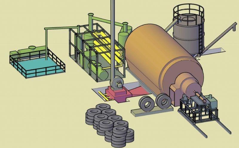 Добываем топливо из мусора: резиновые покрышки