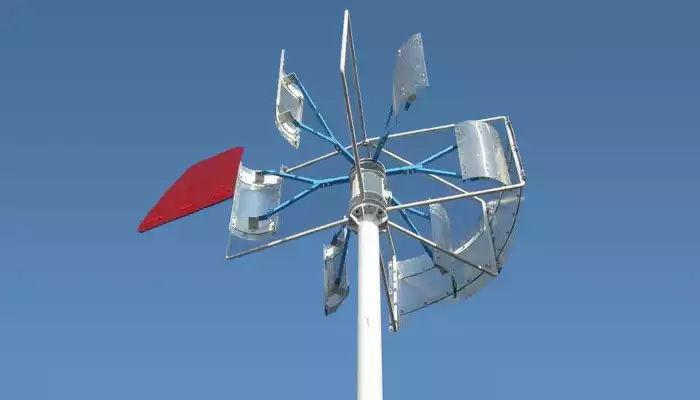 Установка вертикального ветряка из бочек