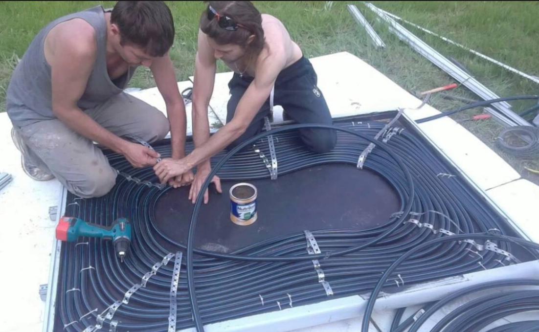 Самостоятельное изготовление солнечного коллектора из ПНД труб