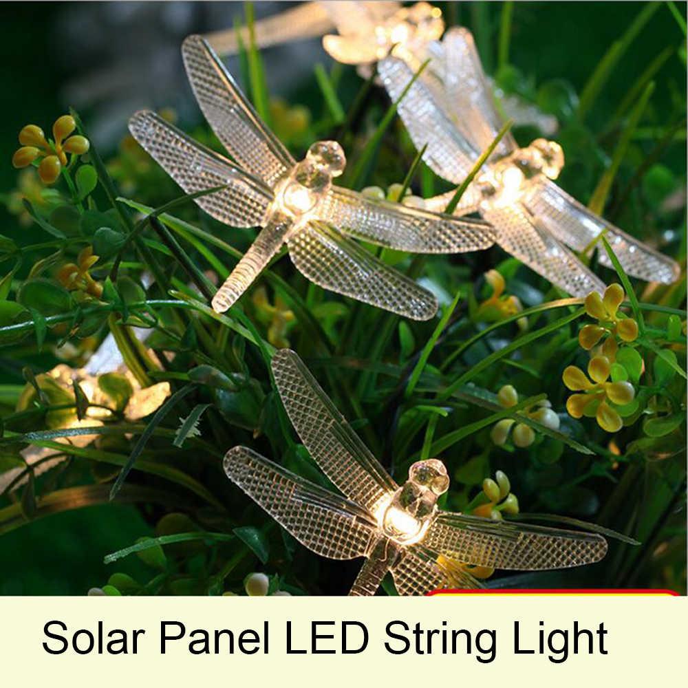 Интересные образцы гирлянд на солнечных батареях с Алиэкспресс