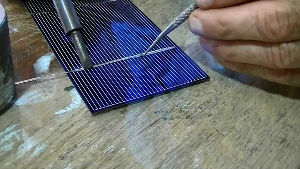 Последовательность пайки солнечных панелей своими руками