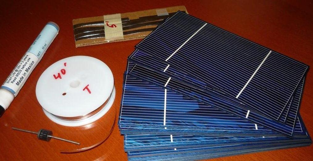 Необходимые инструменты и расходные материалы для пайки солнечных панелей