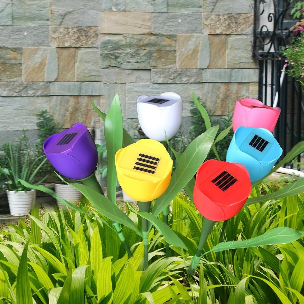 Лучшие модели светильников-цветов на солнечных батареях