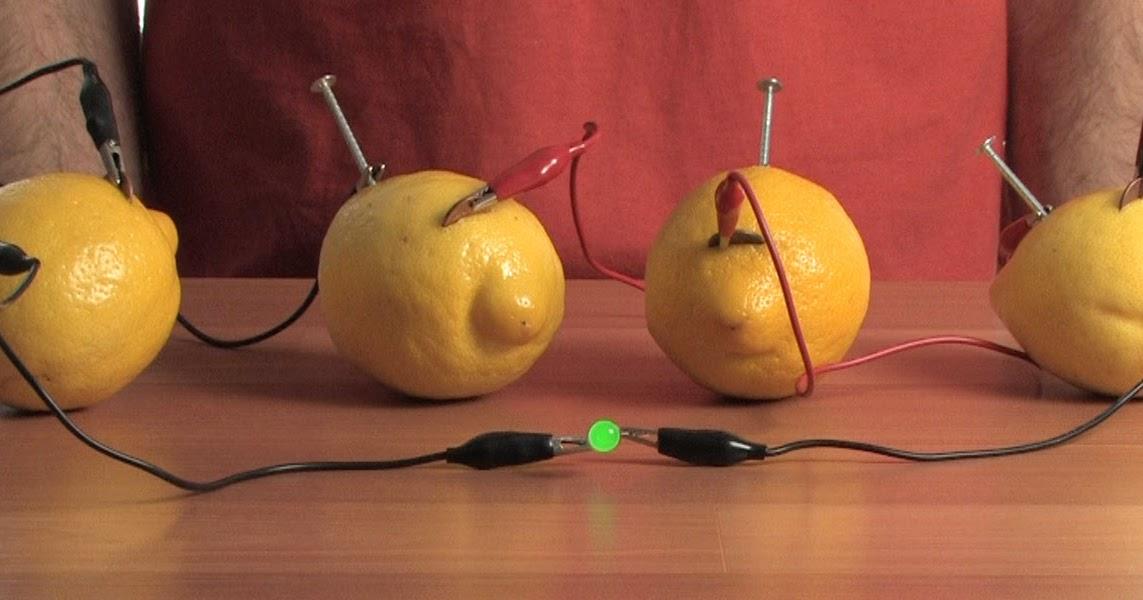 Что понадобится для опыта по получению электричества из лимона